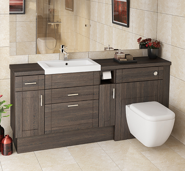 Mallard mali oak fitted furniture for Small fitted bathrooms