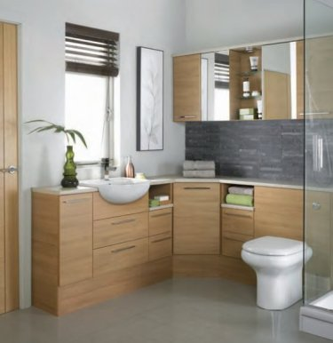 Java Warm Cherry  java light oak  21K. Mereway Bathroom Furniture   Epsom Bathrooms   Discounted Prices