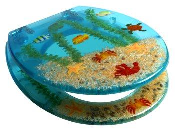 Aquarium Blue Toilet Seat