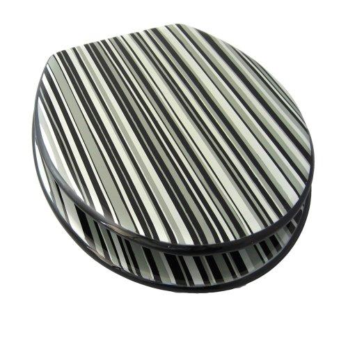 Awesome Stripes Toilet Seat Short Links Chair Design For Home Short Linksinfo